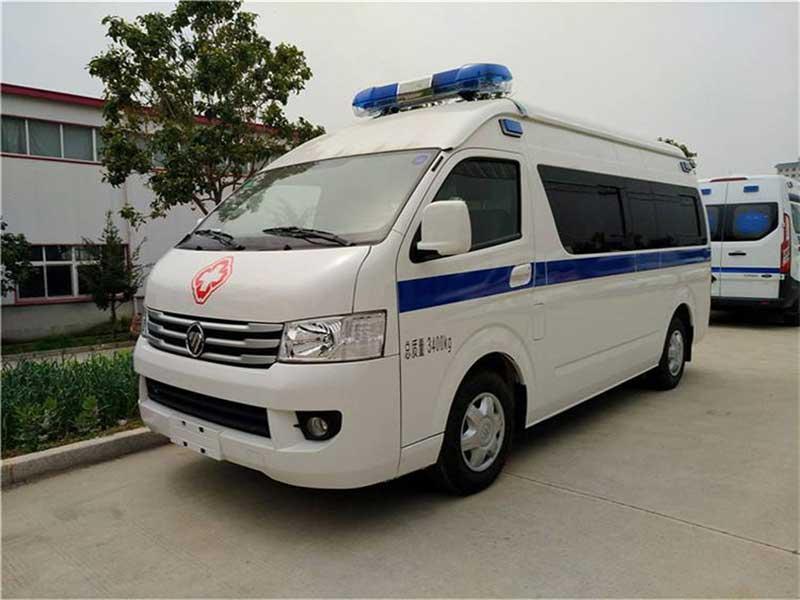 国六最新福田风景G9监护型救护车图片有售多少钱一辆