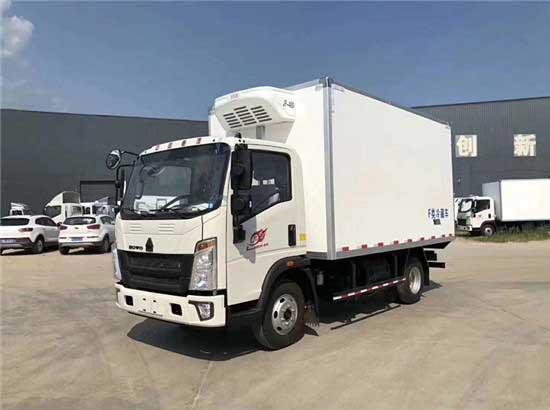 重汽豪沃4.2米冷藏车哪里买、哪里卖、专业厂家