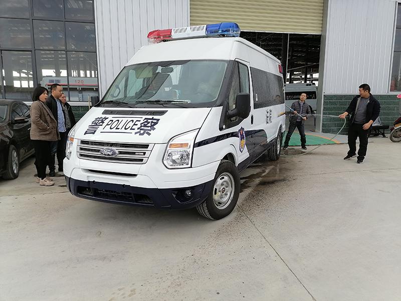 自动挡囚车福特新时代全顺V348警用囚车首选车型