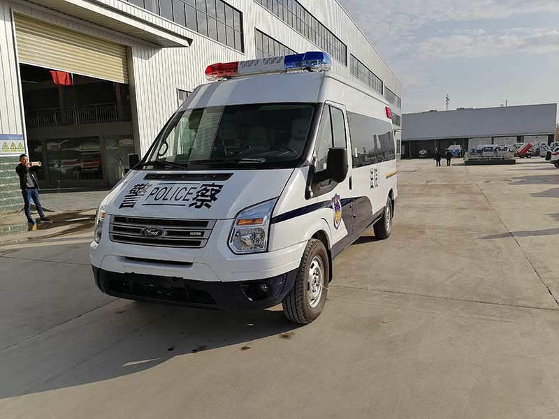 看守所囚车福特新时代全顺V348警用囚车多少钱一辆