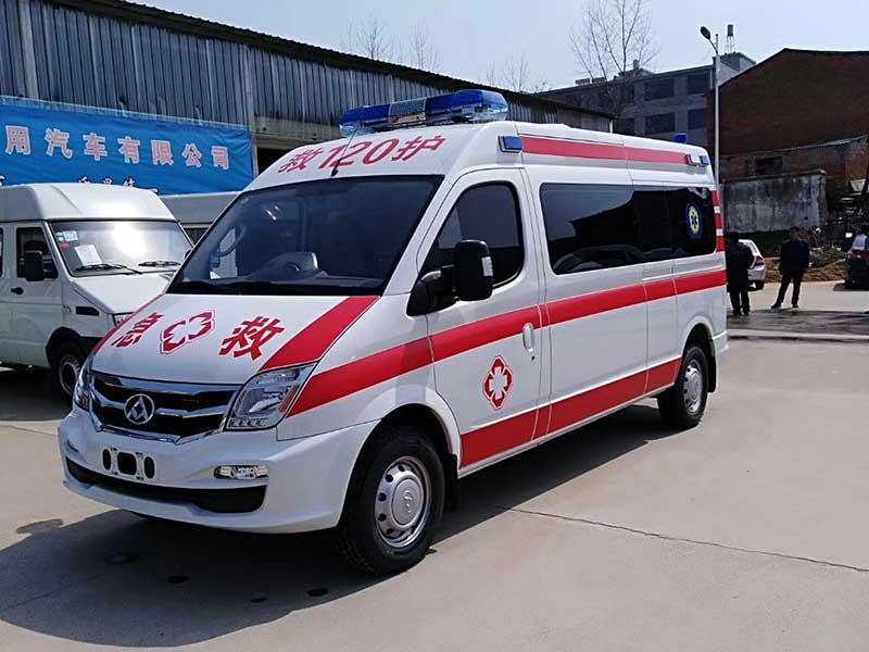 新款国六转运型救护车_上汽大通V80救护车实拍图_价格便宜