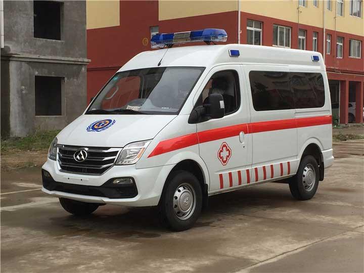 蓝牌大通V80监护型救护车高品质 价格便宜