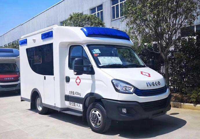 國6藍牌負壓救護車_依維柯歐勝方艙救護車最好_高品質