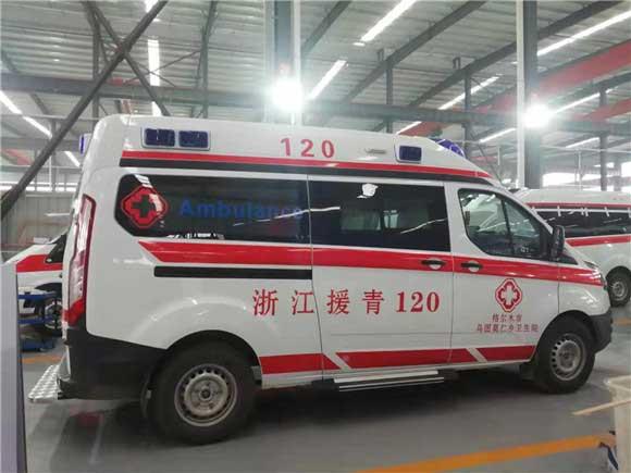福特新时代全顺V348短轴救护车报价哪里卖有售