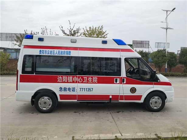 新款国六福特新时代全顺V348短轴救护车报价