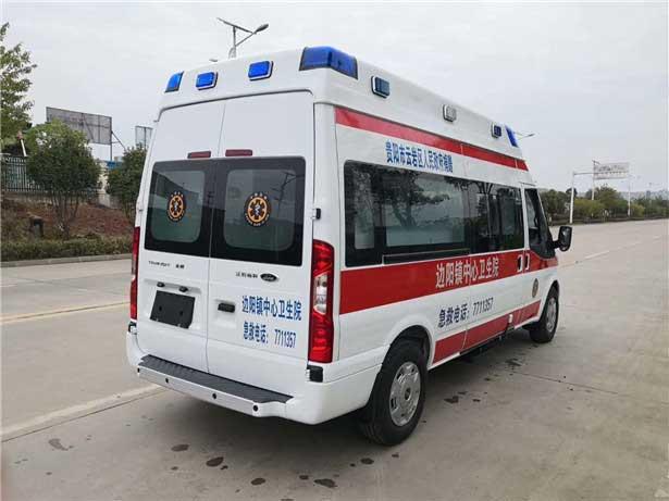 最新短軸救護車_福特新時代全順V348救護車圖片資質齊全優惠促銷