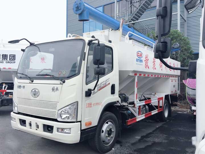 解放J6F12方散装饲料运输车参数-哪里卖-优惠促销