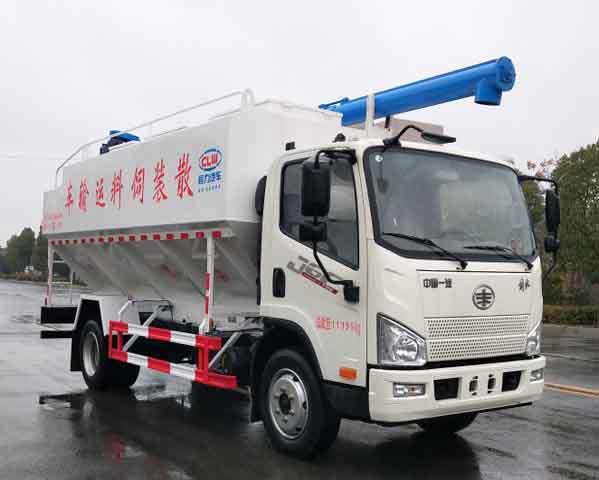 [推薦車型]浙江麗水解放J6F12方散裝飼料運輸車生產廠家改裝廠質量好