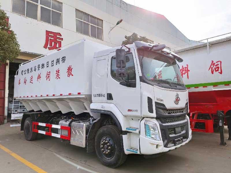 东风柳汽乘龙H5_26方散装饲料运输车全国质保 厂价直销 现车