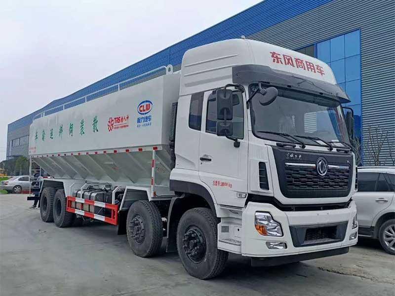 新款[推荐车型]东风天龙40方散装饲料运输车生产厂家-怎么选择