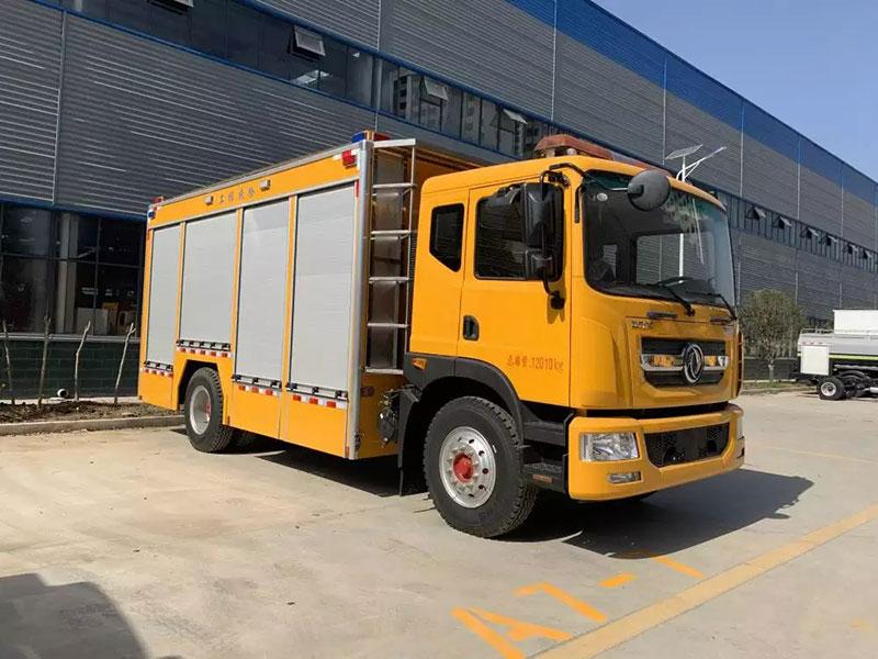 黃牌搶險救援車_河北唐山東風多利卡D9工程搶險救援車購買