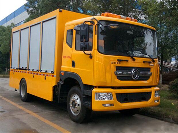 最新东风多利卡D9工程黄牌抢险救援车哪里卖-专业厂家