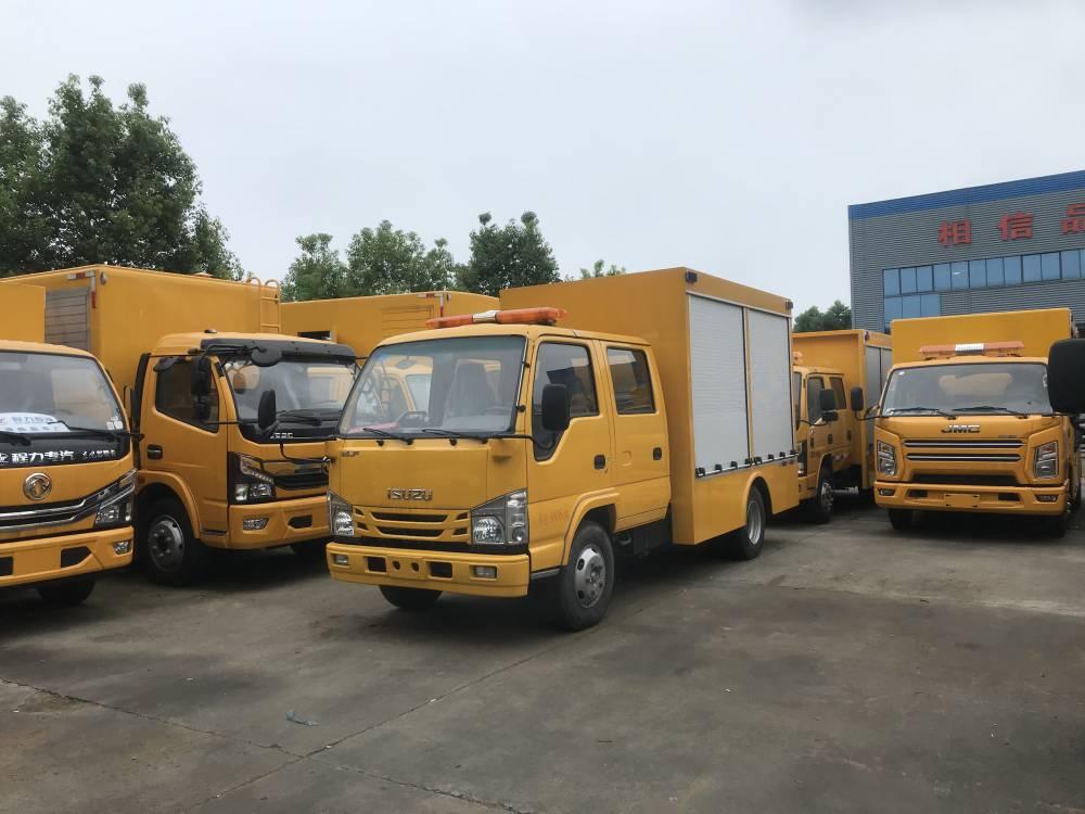 新款燃氣雙排座救險車_慶鈴五十鈴工程救險車廠家多少錢