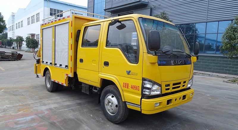 慶鈴五十鈴工程雙排座救險車多少錢一輛