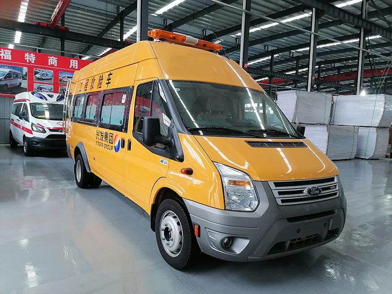 2021款福特V348气防车5-9人座工程抢险车报价、功能齐全