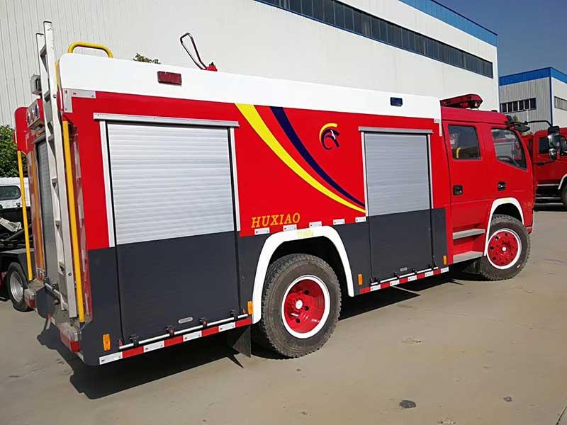 多利卡D7双排5方水罐消防车最好 厂价直销