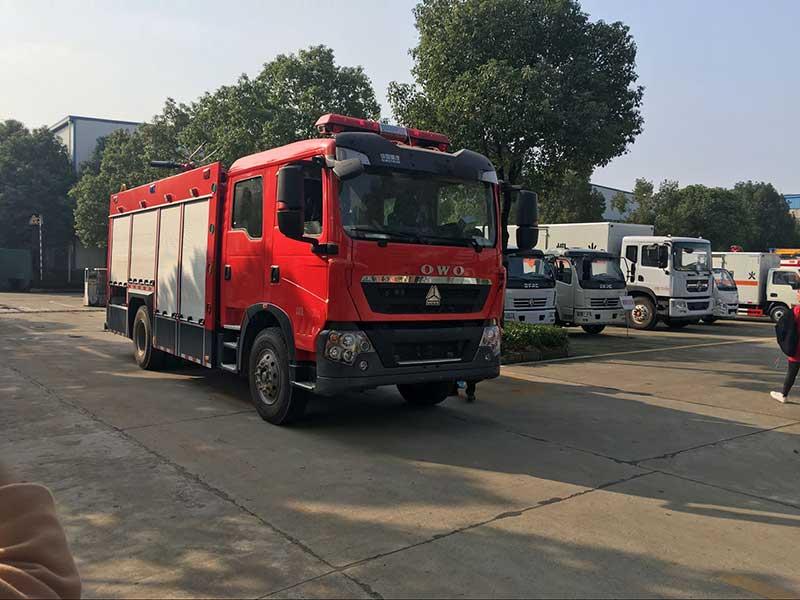 豪沃T5G8噸泡沫消防車哪里賣-質量好