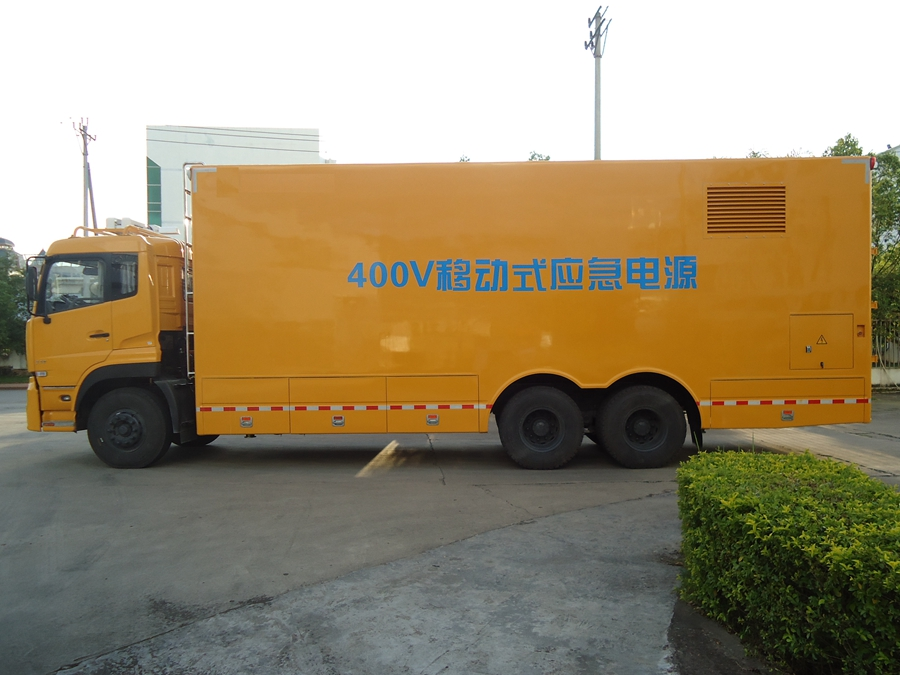 国6[热门车型]天龙200kw电力抢修车实拍图_厂家直销