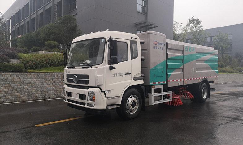 国6浙江嘉兴东风天锦纯电动12方扫路车价格 价格便宜