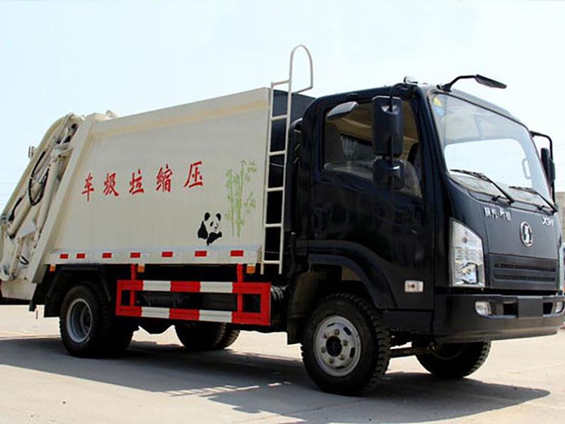 陕汽轩德6方压缩式垃圾车