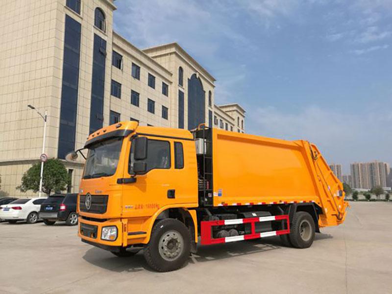 陕汽德龙12方压缩式垃圾车