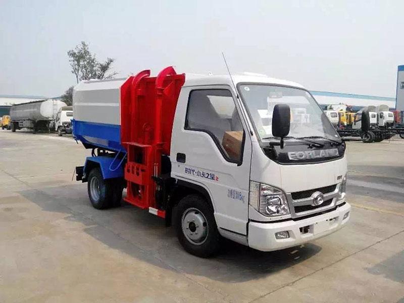 福田小卡之星4方挂桶式垃圾车