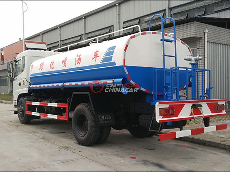 国五东风御虎10吨洒水车实拍图片