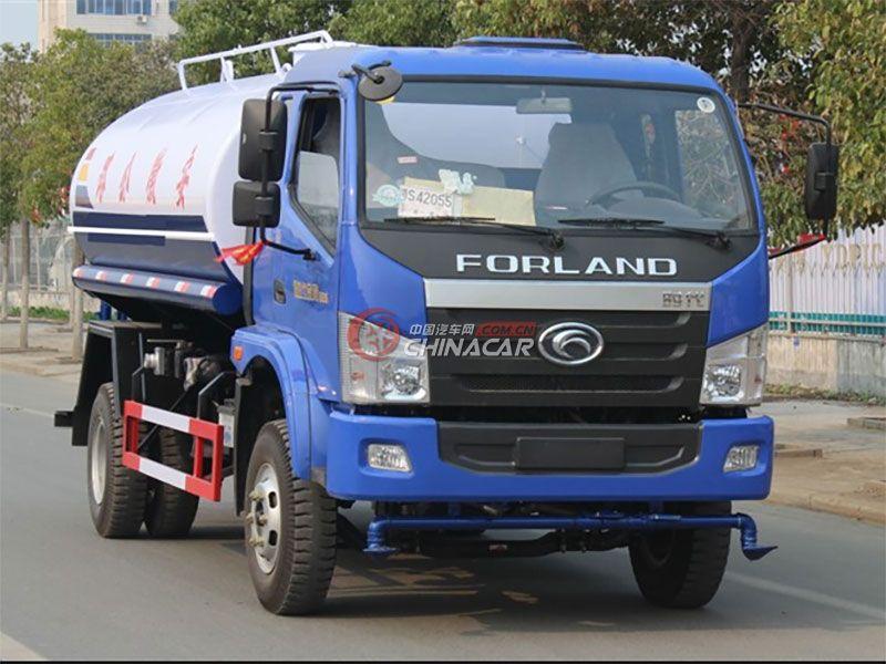 国五福田中驰10吨洒水车实拍图片