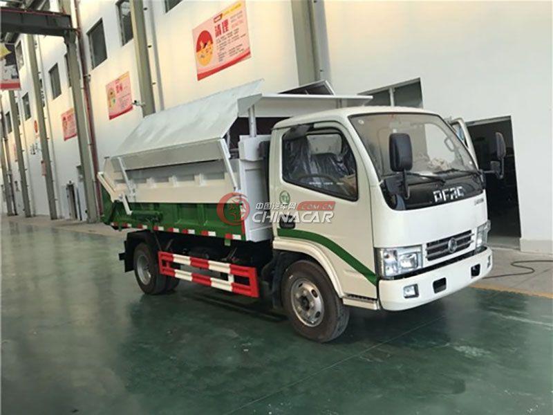 东风多利卡6方自卸式垃圾车实拍图片