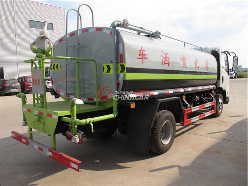 国五东风劲诺10吨洒水车实拍图片