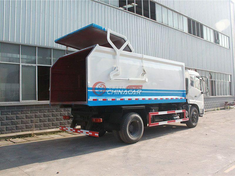 东风天锦12方对接式垃圾车实拍图片