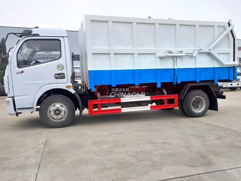 东风多利卡8方对接式垃圾车实拍图片