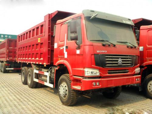 豪沃380马力自卸车5.6米大箱