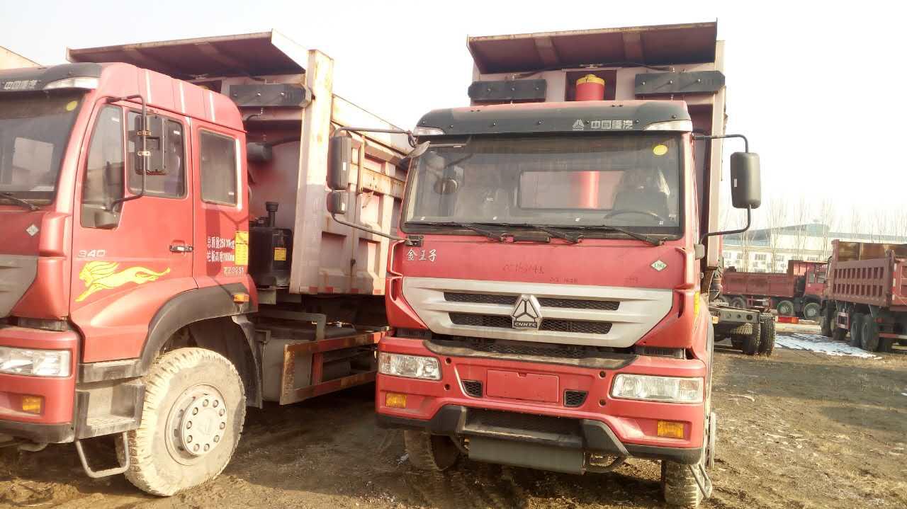 金王子国三大泵375马力5.8米自卸车