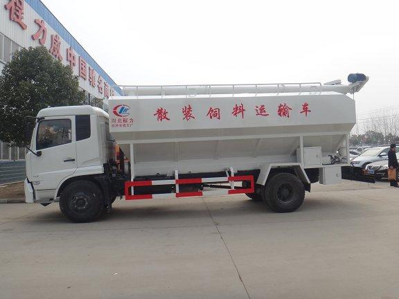 国五东风天锦10吨散装饲料运输车价格
