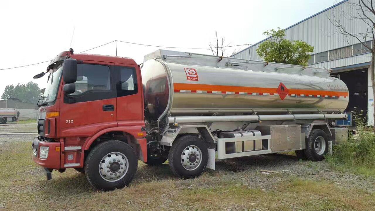 力神汽车精品铸造,欧曼小三轴16吨SLS5253GYYB5铝合金油罐车