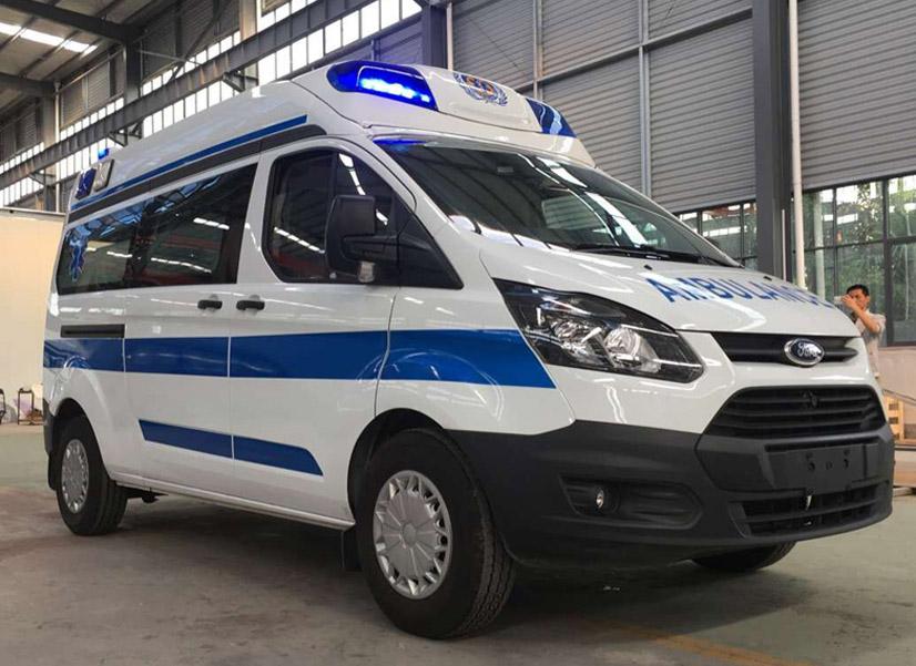 程力医疗救援车厂重磅推出特色产品--江铃新全顺V362超人顶监护型救护车