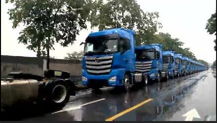 """欧曼EST超级卡车服务高端物流 助力快递行业""""双十一""""降本增效"""