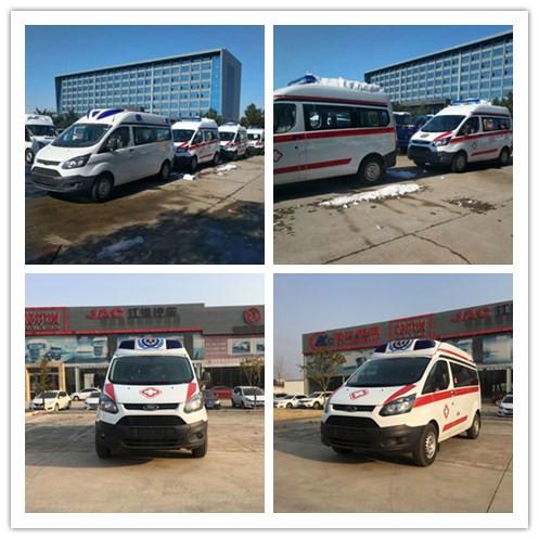 发往贵州的江铃新全顺V362医疗救护车今日首发