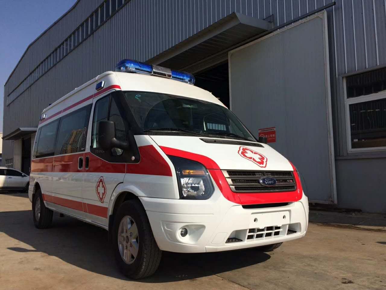 福特全顺V348新时代监护型救护车13607286060