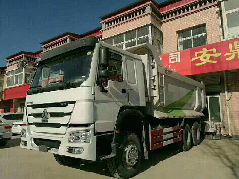 豪沃371马力国二5.6米自卸车可出口