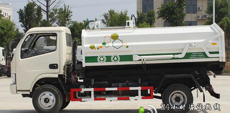 畅销型东风大多利卡D7挂桶垃圾车