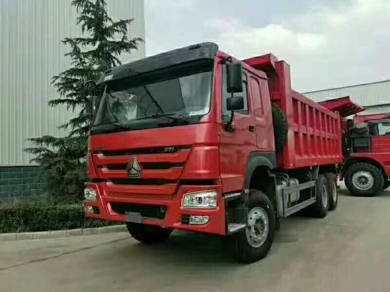豪沃国二371马力5.8米自卸出口车
