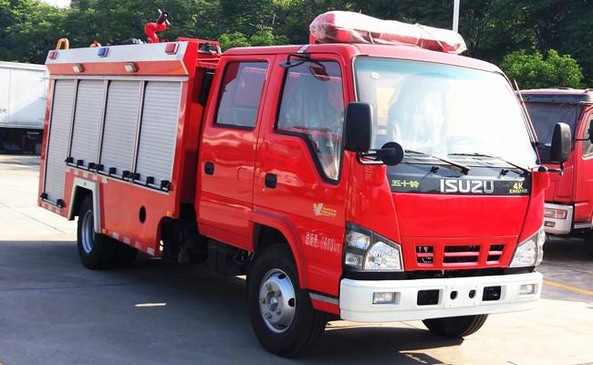 庆铃五十铃3.5吨水罐消防车多辆现车准备发车中