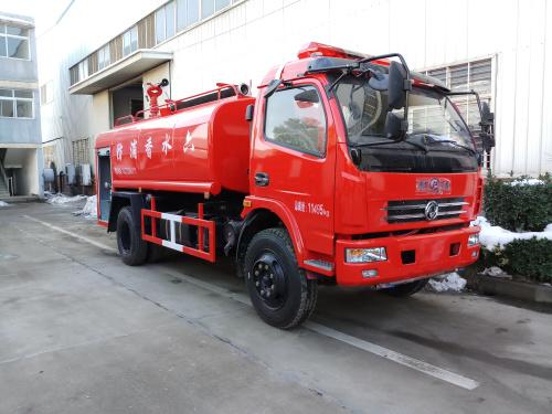 东风6.8吨国五消防洒水车|简易消防车|乡镇民用消防车