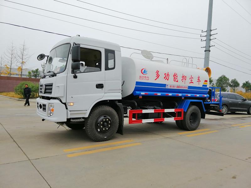 新款东风专用底盘12吨喷雾洒水车/30米多功能抑尘车厂家