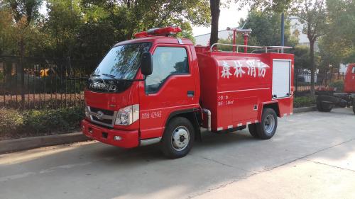 福田2吨民用消防洒水车价格|小型消防车厂家