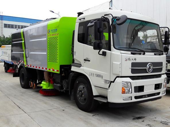 东风天锦干湿两用扫路车_扫路车多少钱_道路扫路车生产厂家