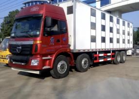 运猪车厂家,福田欧曼9米6全新运猪车价格
