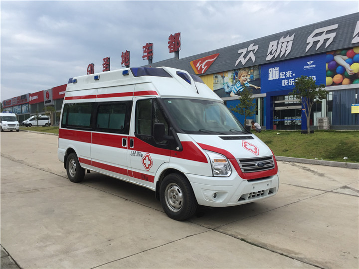 福特全顺v348救护车/v348救护车监护型/v348救护车长轴高顶客运版厂家价格
